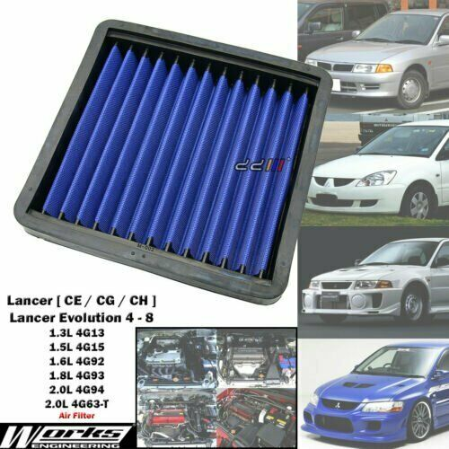 Works High Flow Air Filter For Mitsubishi Lancer EVO 4 5 6 7 8 CP9A CT9A  4G63-T   eBay