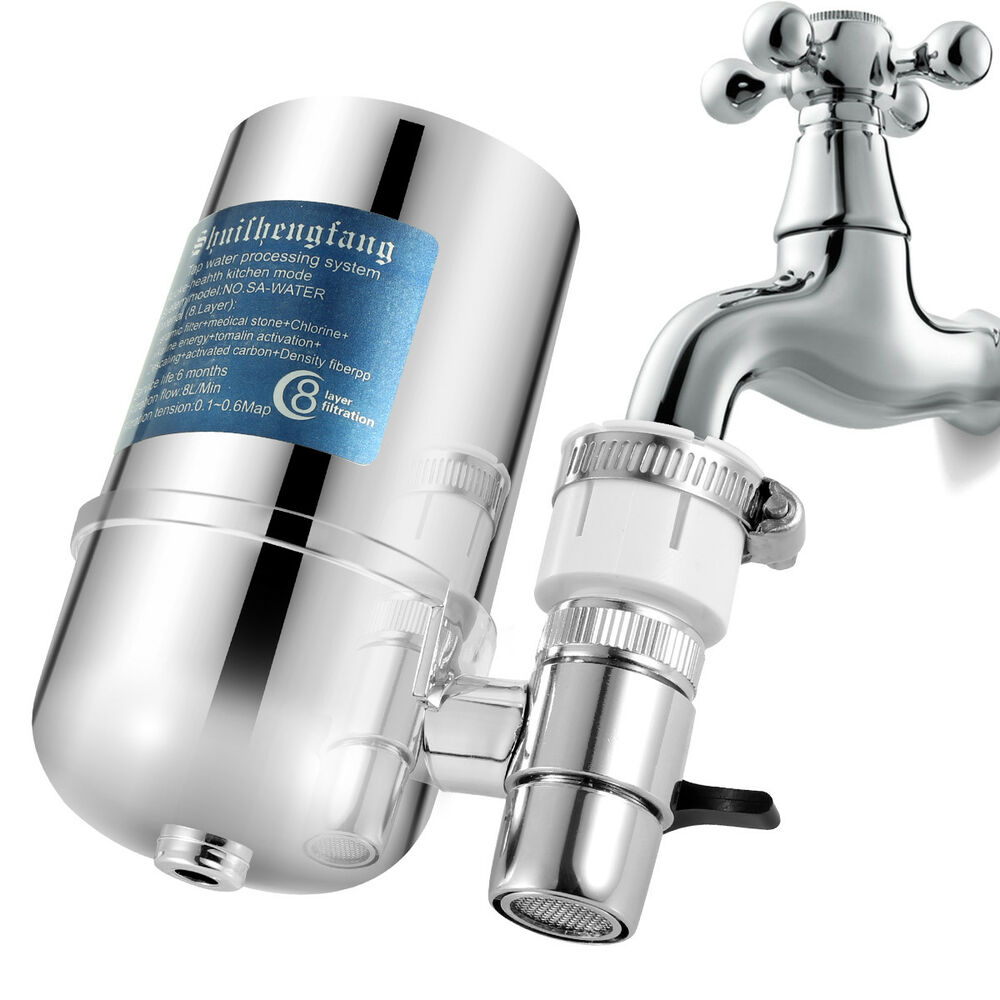 Water Filter For Kitchen Sink Or Bathroom Faucet Mount