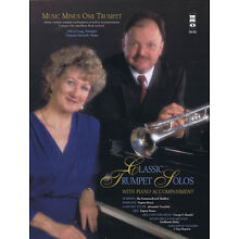 Classic Trumpet Solos Concert Sheet Music Minus One Play-Along Book CD Pack NEW