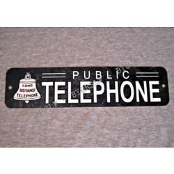 Metal Sign TELEPHONE public pay coin vintage replica phone booth prop rotary #2