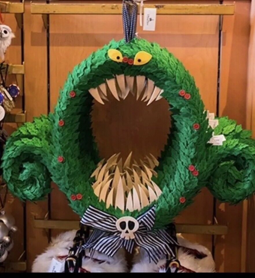 Disney Parks The Nightmare Before Christmas Monster FULL SIZE Wreath ...