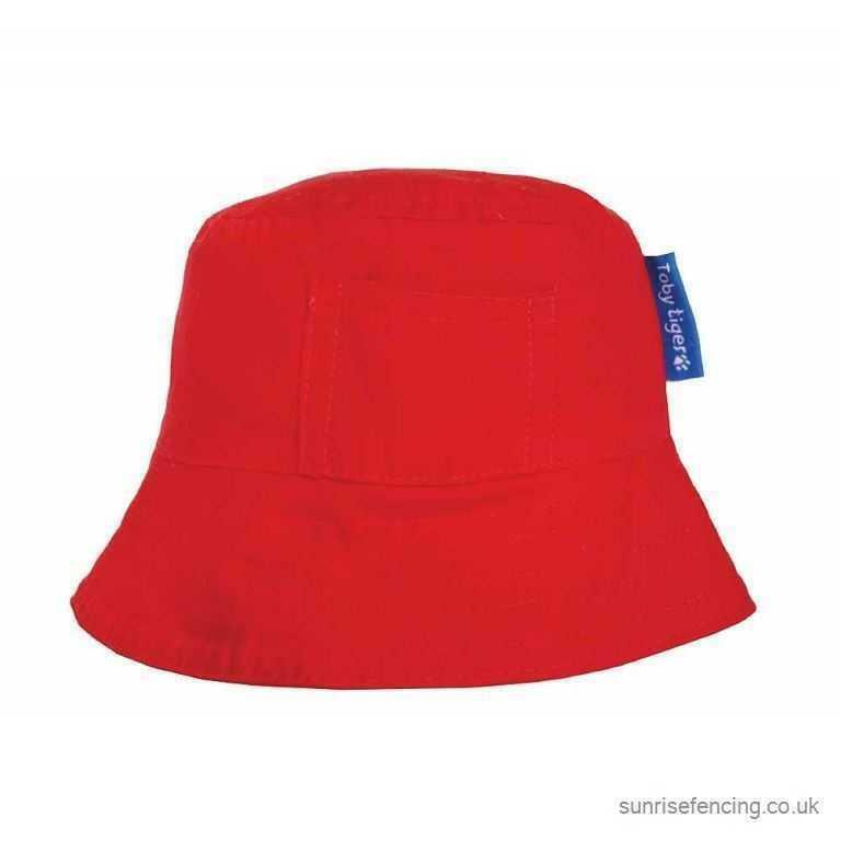 Details about BNWT Stunning Toby Tiger Red Sun Hat Sunhat With Ties 0408a819680