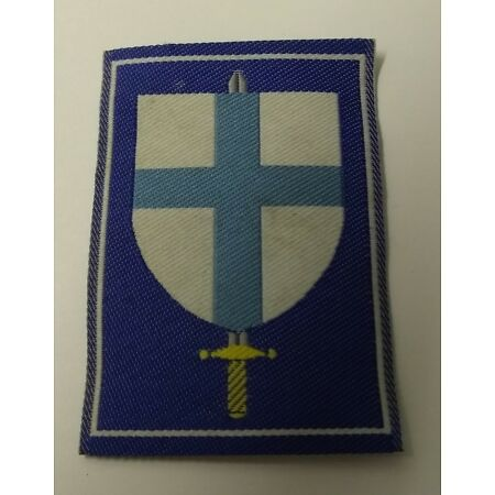 img-Genuine Military Issue Sword & Shield Unknown Insignia Sew On Patch APOR23B