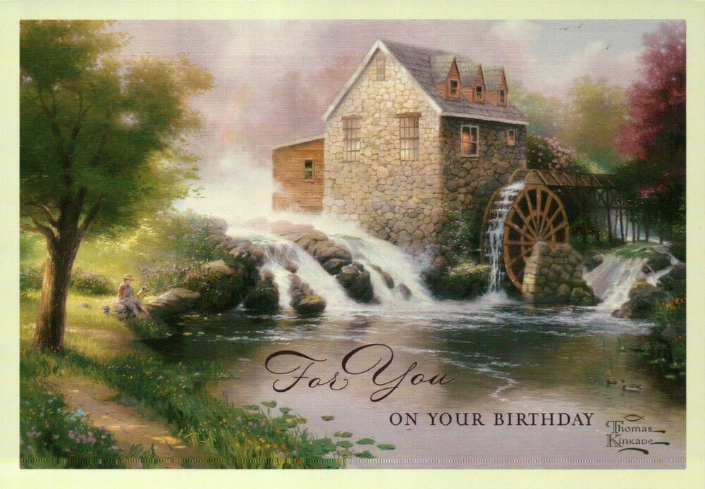 The Blessings Of Summer Thomas Kinkade Birthday Card W Message