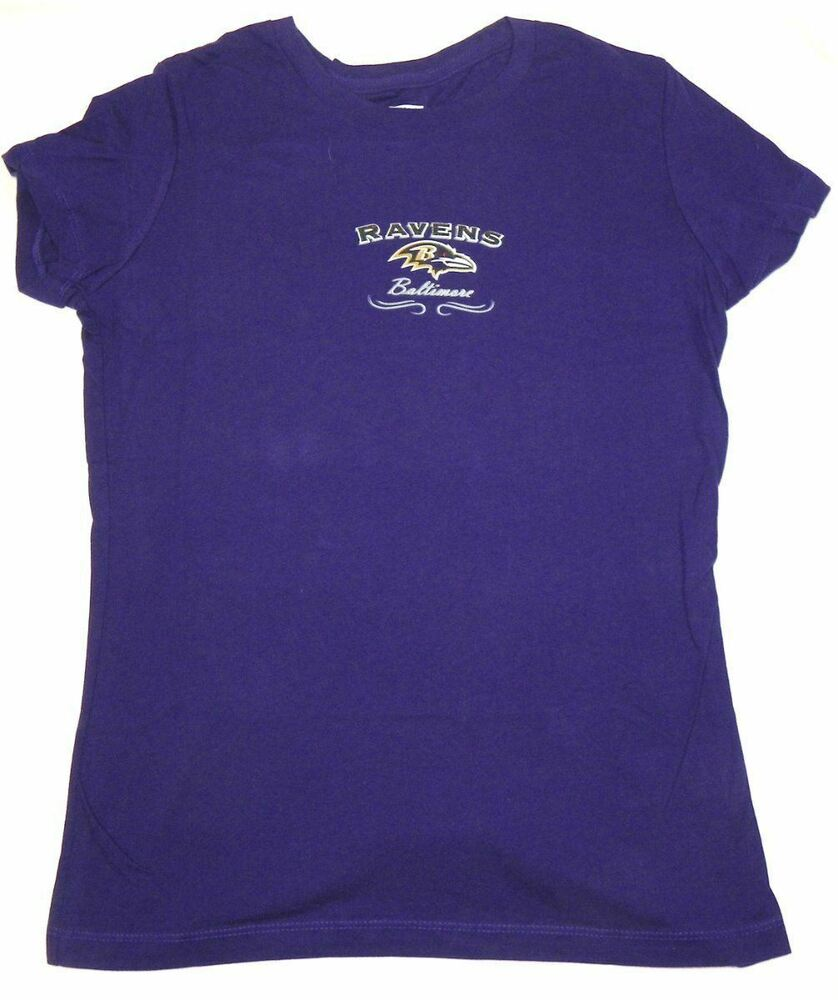 Details about Junior Women s Baltimore Ravens Shirt Football Tee Purple  Glitter Logo T-Shirt f838856db7