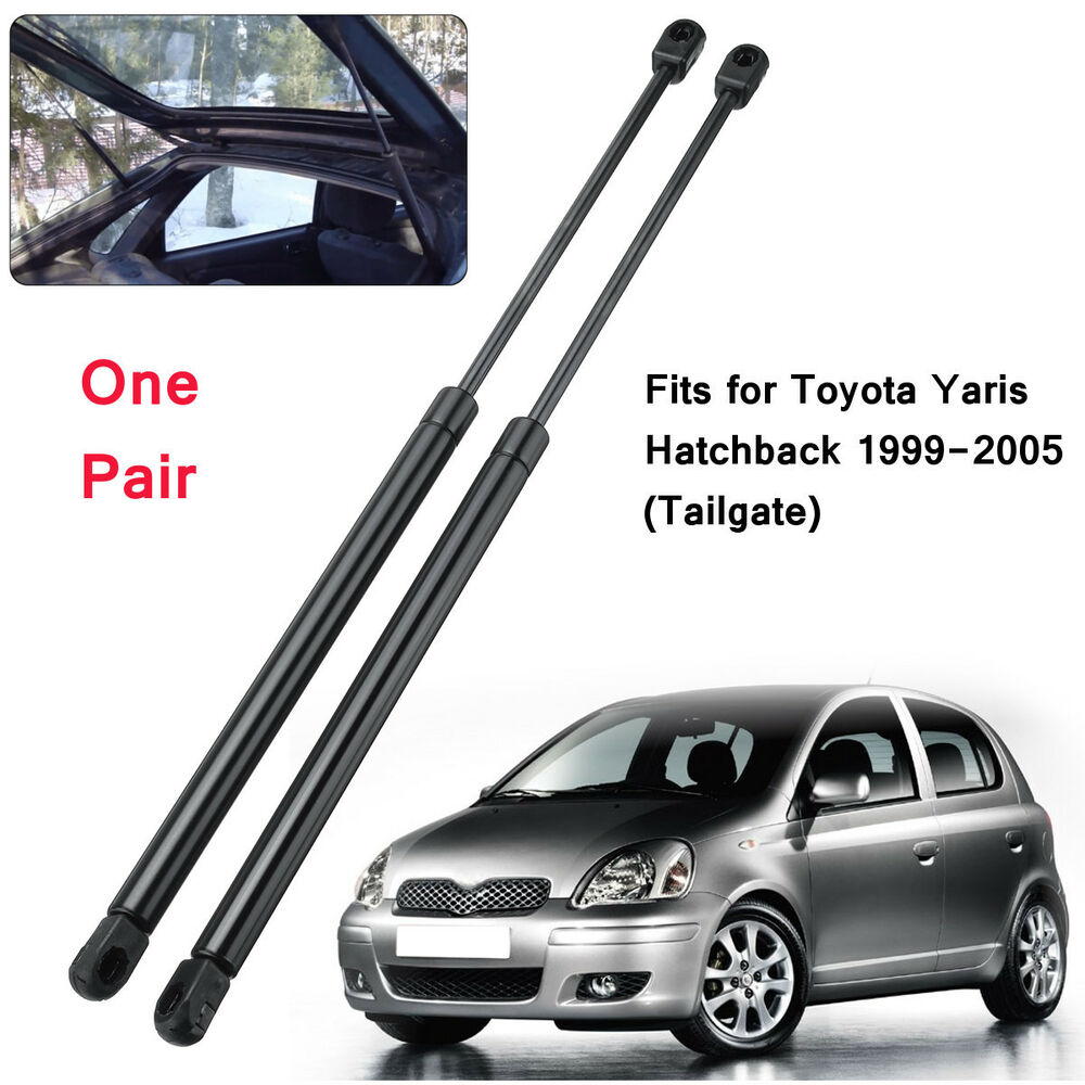 Details About 2x Rear Tailgate Boot Trunk Gas Struts Support For Toyota Yaris Hatchback 99 05