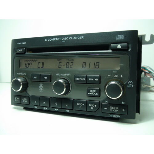 honda-pilot-20062008-6dics-cd-player-ex-4wd-xm-radio-1bv1-1bv2-wcode-tested