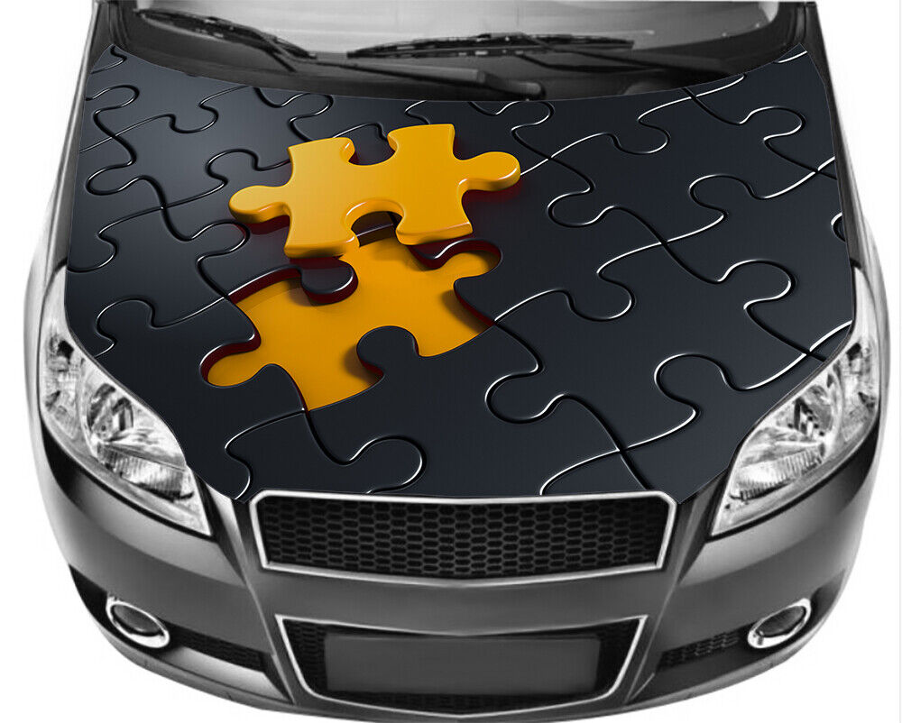 Vinyl For Cars: Puzzle Full Color Sticker, Car Hood Decal Graphics Wrap