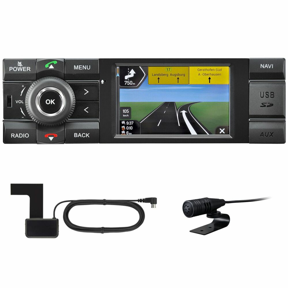kienzle mcr 1031 nav 1 din autoradio navigation dab usb. Black Bedroom Furniture Sets. Home Design Ideas