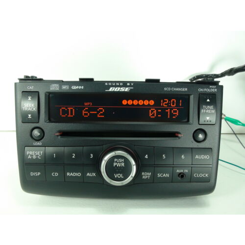 nissan-rogue-oct-08mar-09-6disc-cd-mp3-player-bose-aux-xm-rds-py01f-tested