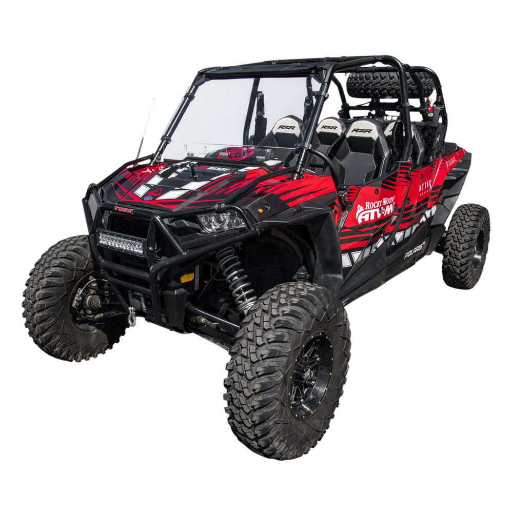 Details About Tusk Full Vented Polycarb Windshield Window Polaris Rzr Xp 1000 Xp4 900 Trail Xc