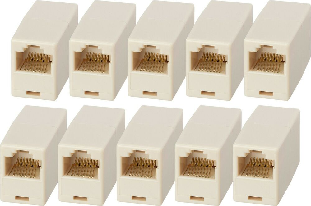 X10 Rj45 Lan Ethernet Network Cable Coupler Female Joiner
