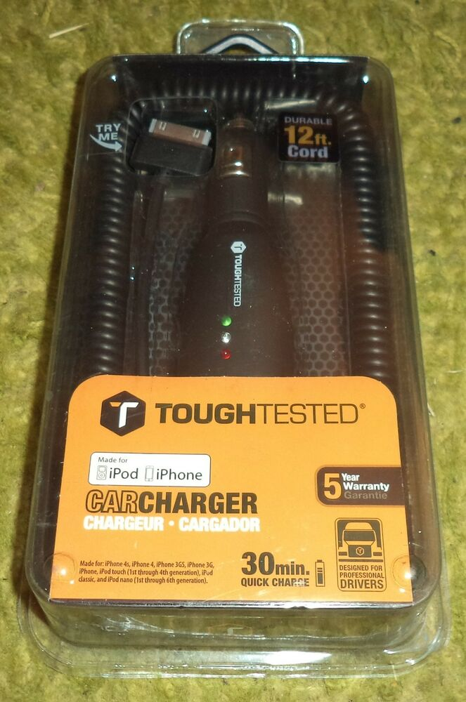 TOUGH TESTED PCTT-MP CHARGER FOR iPHONE iPOD 30 MIN QUICK CHARGE  758302642502 | eBay