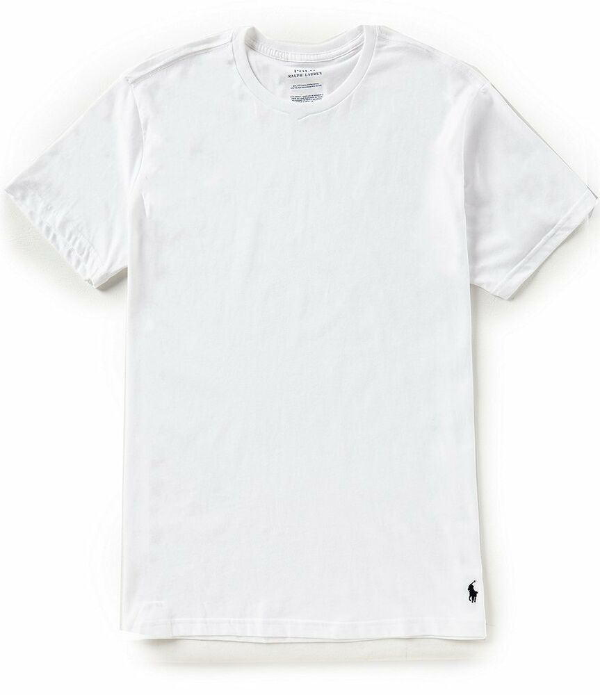 1c4e72d7df1a Details about Polo Ralph Lauren S/S White Cotton Comfort Blend Crew-Neck T-Shirt  2 Pack
