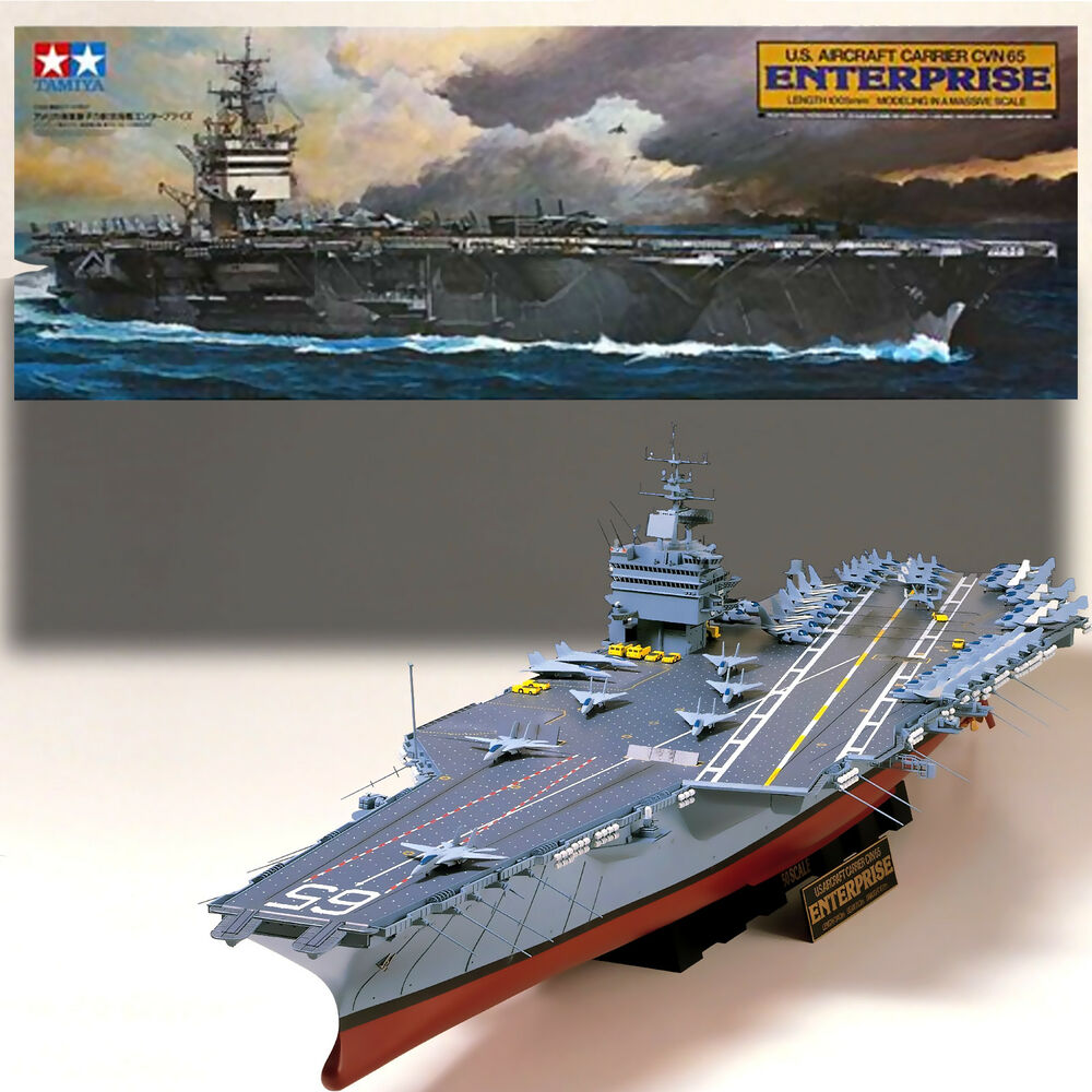 TAMIYA 1/350 U.S.S. ENTERPRISE CVN 65 AIRCRAFT CARRIER KIT ...