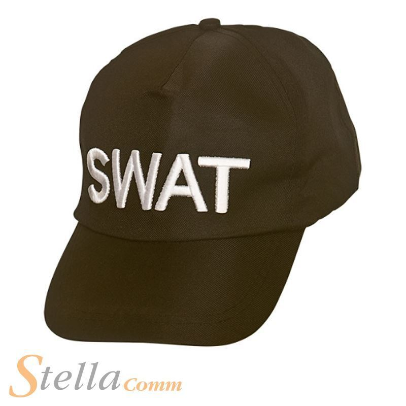 5781578ffe2 Details about Adult SWAT Baseball Cap Hat FBI Police Team Cop Fancy Dress  Accessory