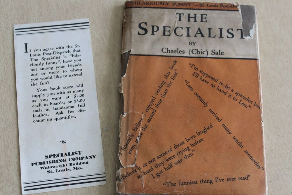 The Specialist Charles Chic Sale Hilariously Funny 1929 6th Printing