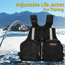 Black Adult adjustable Buoyancy Sail Kayak Canoeing Fly Fishing Life Jacket Vest