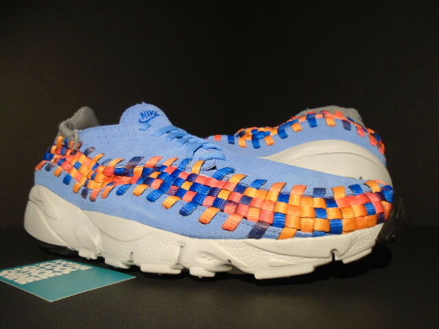 NIKE AIR FOOTSCAPE WOVEN MOTION RAINBOW UNIVERSITY BLUE PINK GREY 417725-401 11