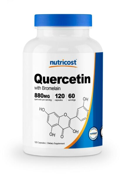 Nutricost Quercetin 800mg, 120 Vegetarian Capsules With Bromelain - 60 Servings