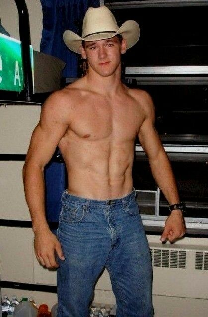 23b130afc4441 Details about Shirtless Male Hunk Muscular Cowboy Beefcake Jeans and Hat  Dude PHOTO 4X6 C1576
