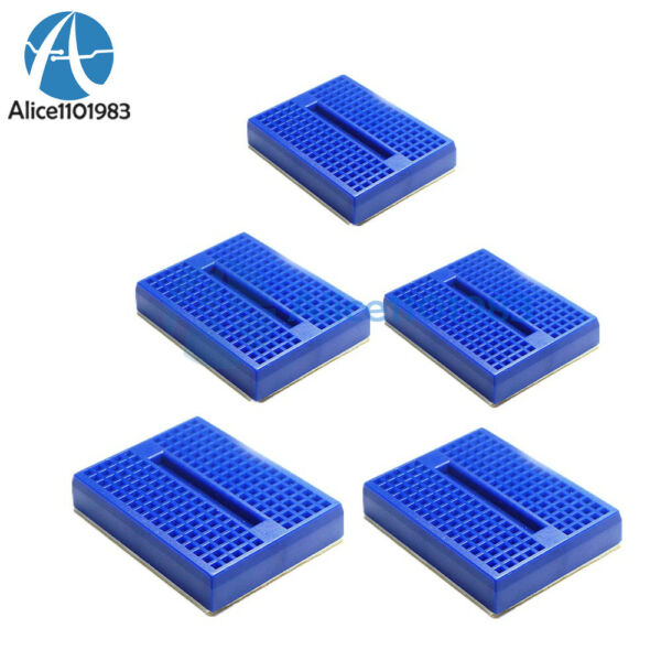 2PCS Mini Solderless Prototype Breadboard 170 Tie-points Blue for Arduino Shield