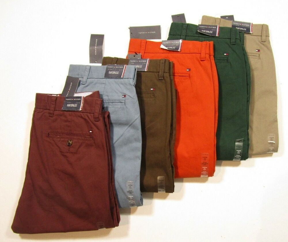Tommy Hilfiger Men/'s Custom Fit Light Weight Chino Pants