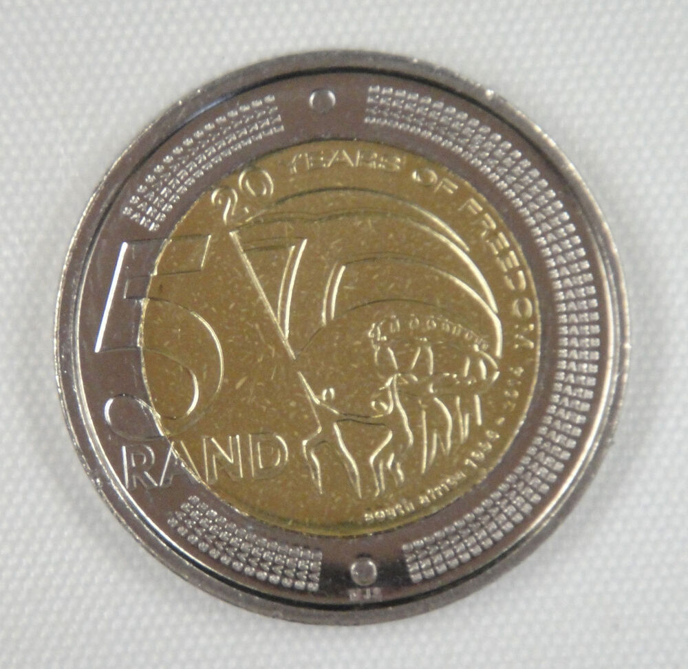 South Africa 5 Rand Coin 2014 20 Years Of Freedom Ebay