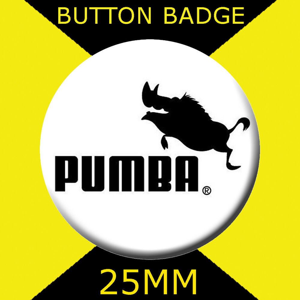 2753b7265968 Details about pumba puma logo badge button badge with pin jpg 1000x1000 Puma  pumba