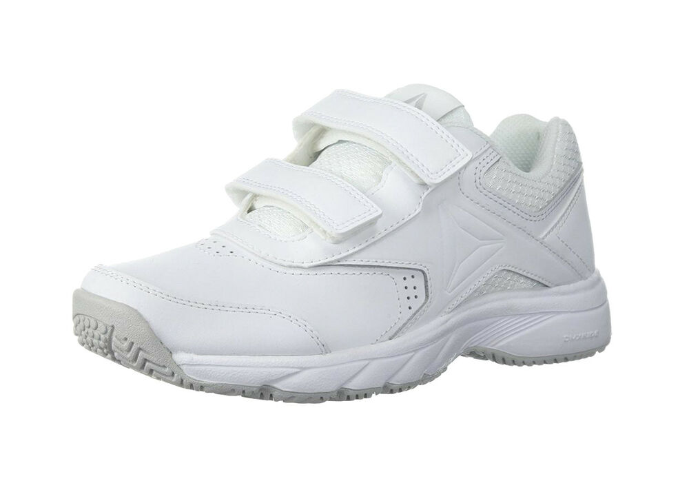 6c74c2baee61fb Details about REEBOK Work N Cushion 3.0 White Gray Walking Strap Sneaker  Adult Women Shoes