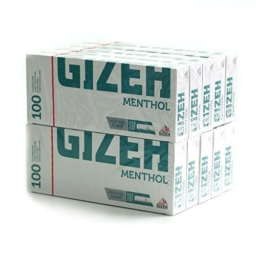 1000 Tips Gizeh Roll Your Own Filtered Menthol Cigarette Filter Tubes Tobacco