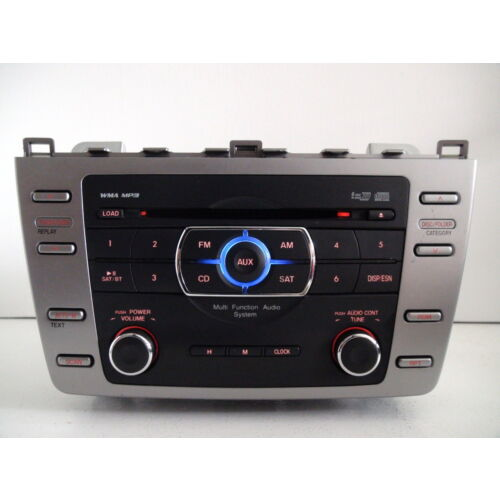 mazda-6-2009-2010-6disc-cd-mp3-wma-player-changer-aux-sat-gs4m669rxc-tested