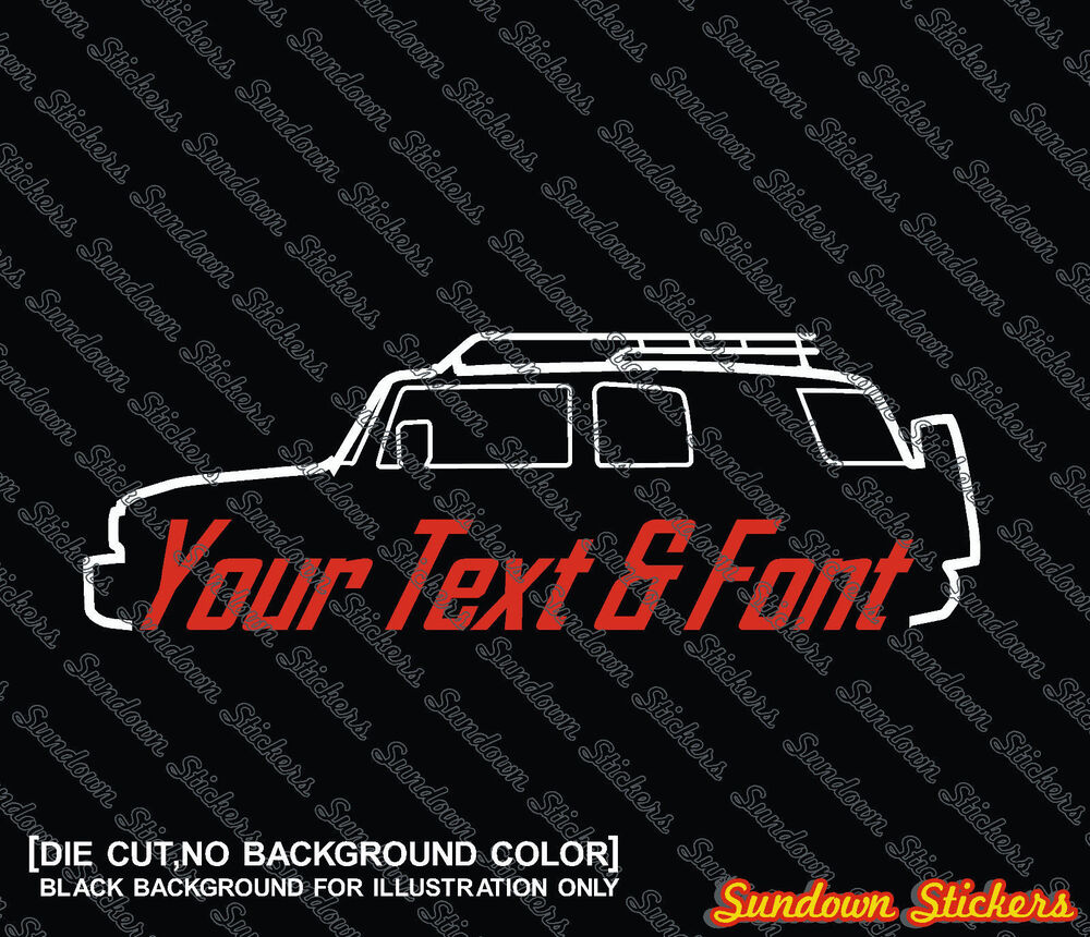 Details about 2x custom your text car sticker for toyota fj cruiser 4x4 offroad