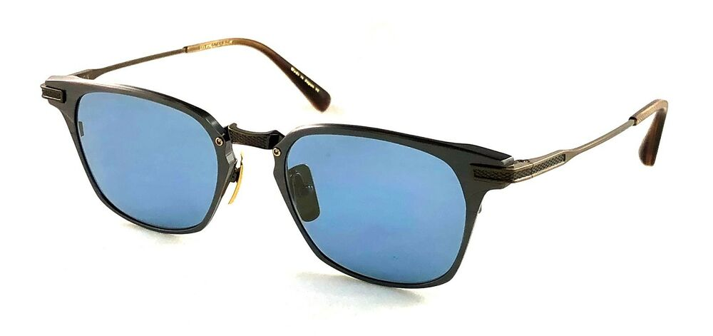b2d79355e79 Details about DITA UNION DRX-2068 Antique Silver 18K Gold Blue Flash lens  sunglasses 49-19-145