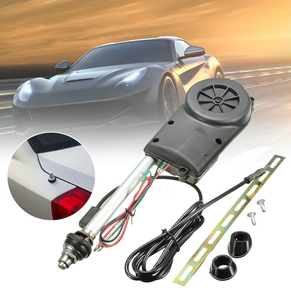 Radio Shack Electric Motor Kit: Universal Car Auto AM FM Radio Mast Power Electric Aerial