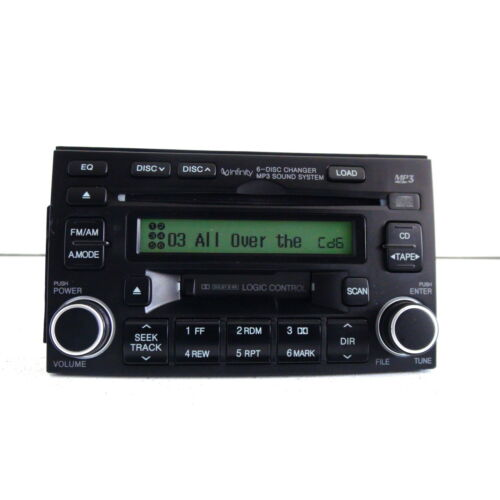 hyundai-azera-20062008-6disc-cd-mp3-cassette-player-black-infinity-sys-tested