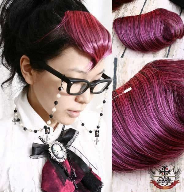 Punk Cosplay Cyber Hair Extension Clip Bangs Berry Pink Ebay