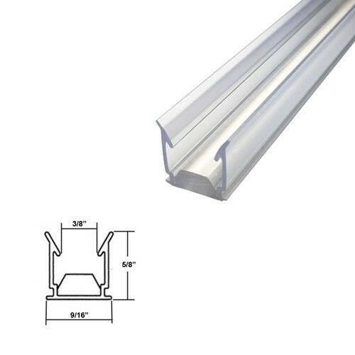 Clear Polycarbonate Capture Seal For Sliding Glass Shower