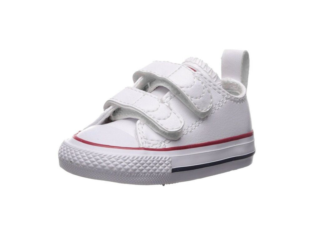 4343598fe548 Details about Converse Shoe Chuck Taylor All Star 2V Toddler Baby Infant  White Leather Low Top