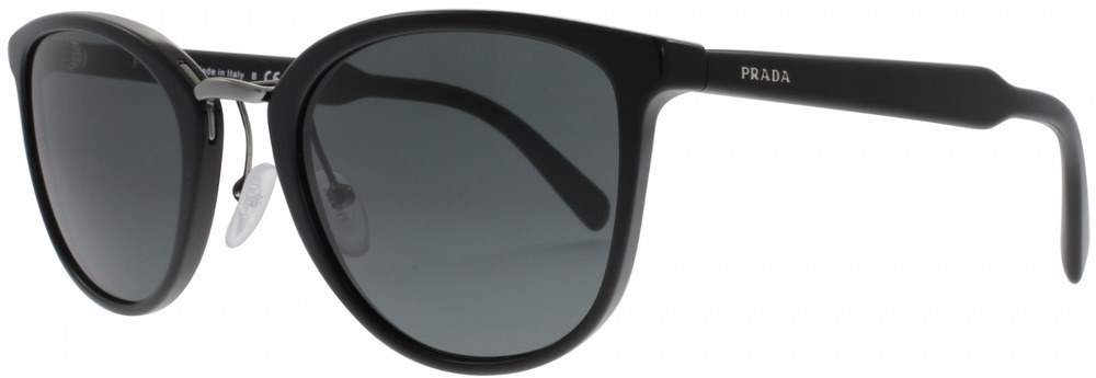 4cc0c41d69f91 Details about New Prada Sunglasses OPR 22SS 1AB1A1 Shiny Black w  Grey Lens  Authentic 52mm