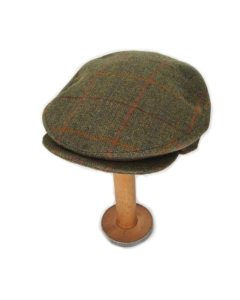 bea05bfec3fad Yorkshire Hand Tailored Tweed Helmsley Flat Cap in Derwent Green MADE IN  BRITAIN