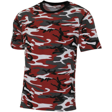 img-Army Tarn T-Shirt red camo S-3XL US Armee rottarn rot camouflage Tarnmuster