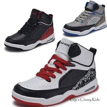 New Boys Girls High Top Sneakers Kids Tennis Shoes Basketball Athletic Youth New