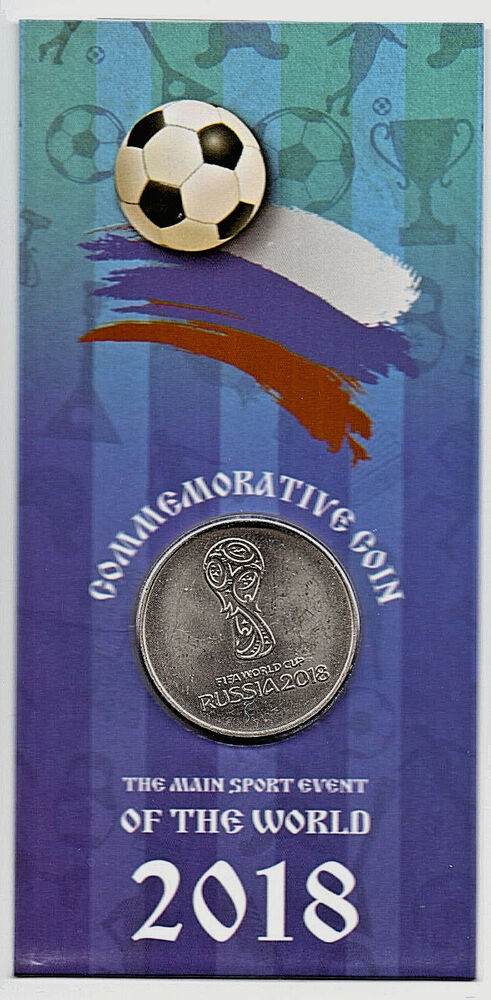 Details about Russia 2018 World Cup Ruble Emblem Logo Silver Coin in  Presentaion Blue Packet 87d74101c
