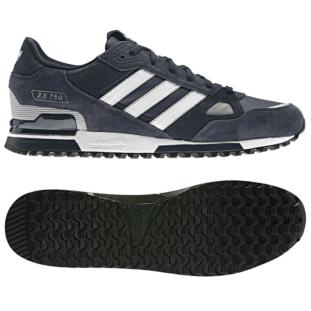 1e20b13689aae Details about adidas ORIGINALS MENS ZX 750 UK SIZE 7-11 BLUE RUNNING  TRAINERS SHOES NEW