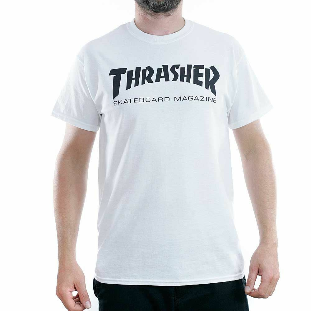 9bcb0c6a Details about Thrasher Magazine White Skate Mag Logo T-Shirt New BNWT Sk8  Tee Free Delivery