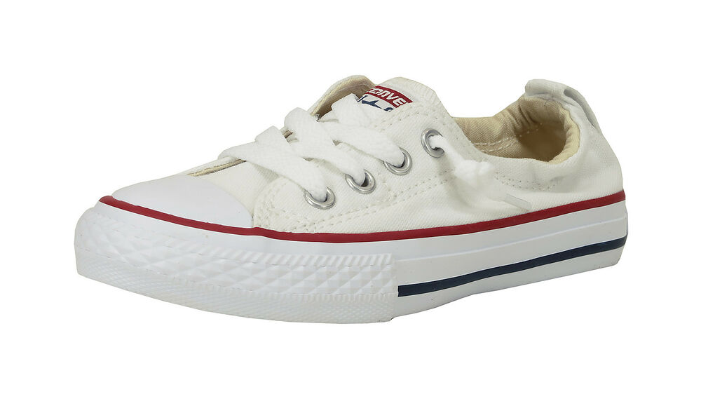 feec5998d24 Details about Converse Shoes Chuck Taylor Shoreline Slip Youth Girls Boys  White Sneaker