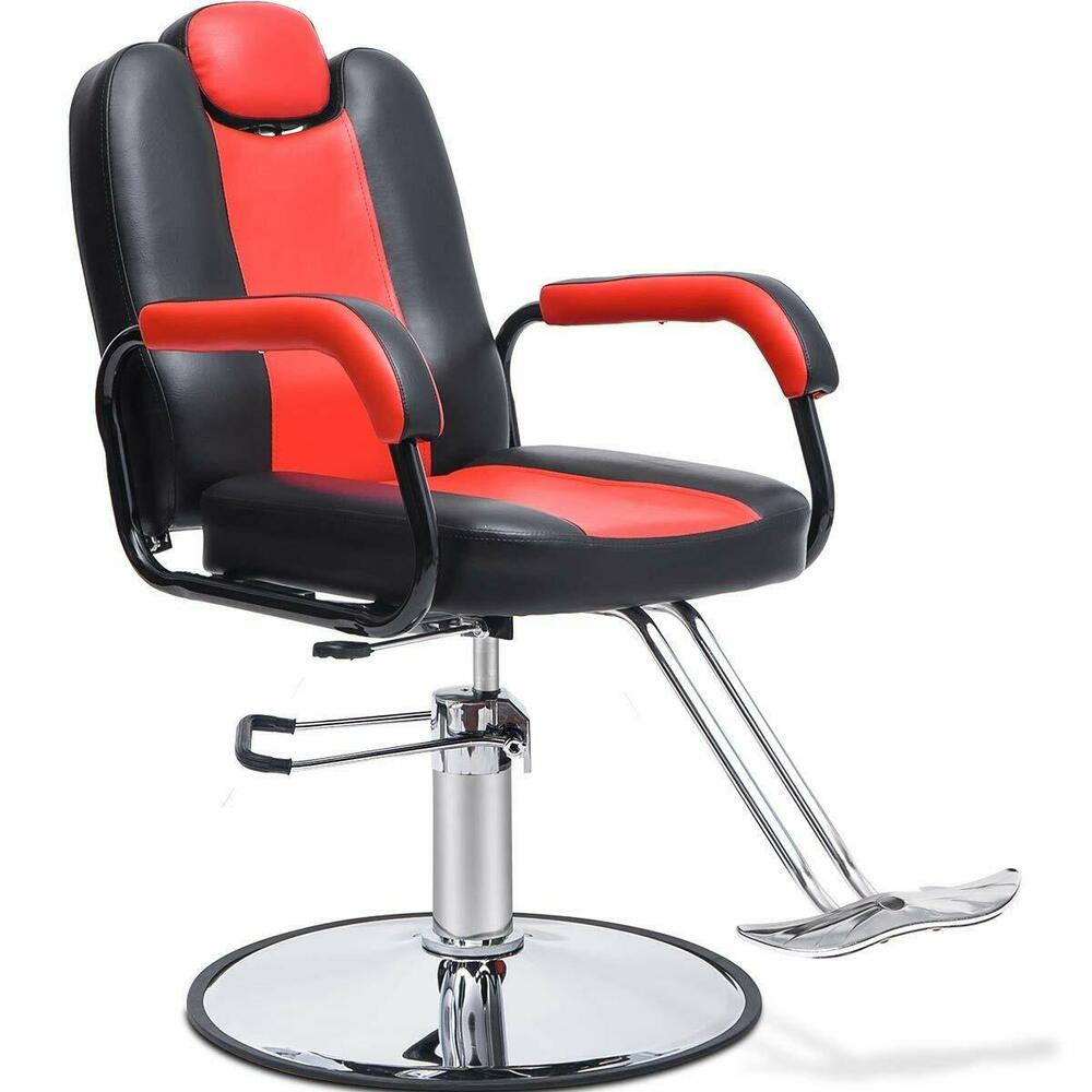 Details About Merax Reclining Hydraulic Barber Chair Styling Salon Beauty  Shampoo SpaEquipment