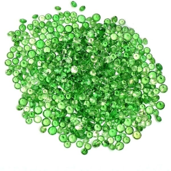 Wholesale Lot of 1mm to 2.5mm Round Tsavorite Green Garnet Loose Calibrated Gems