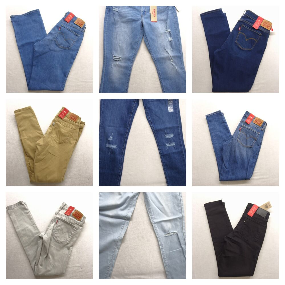 c7356020 Details about Levi's Womens 711 Skinny Stretch Denim Jeans Pants All Sizes  / Colors New Nwt